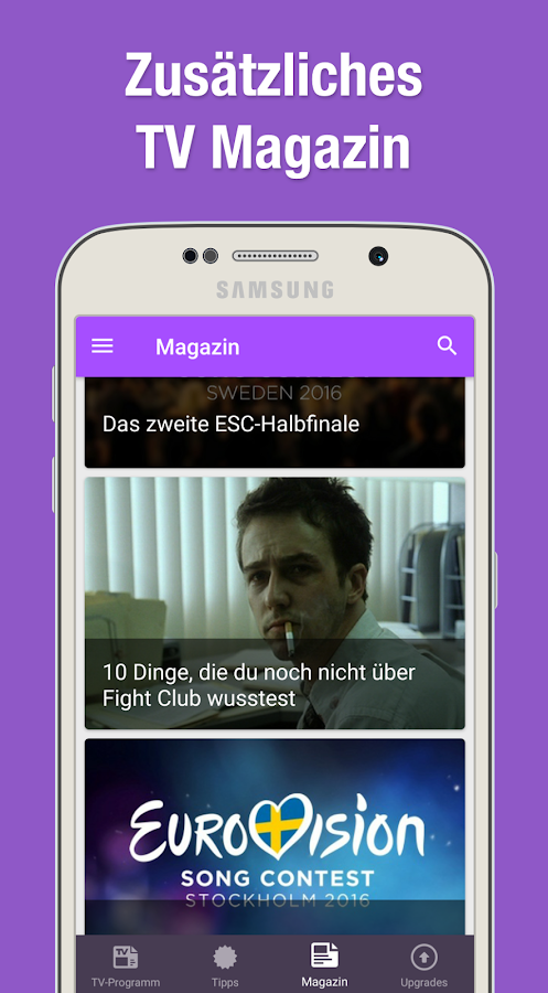 TV Programm App mit Live TV- screenshot