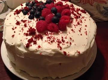 Red Velvet Cake with Marscapone and Cream Cheese