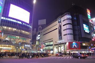 Photo: shibuya au feu rouge pour les piétons
