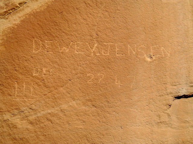 Dewey Jensen inscription from December 22, 1947 near Birch Spring