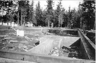 Photo: Vasselhyttans bygdegård, grundläggning våren 1922
