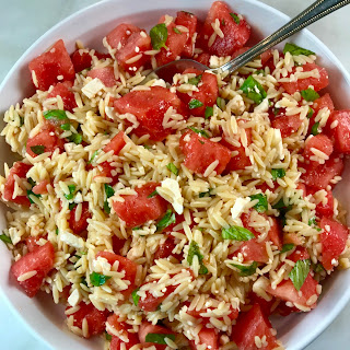 Orzo Salad with Watermelon and Feta Recipe