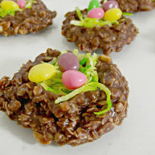 Easter No-Bake Nest Cookies.