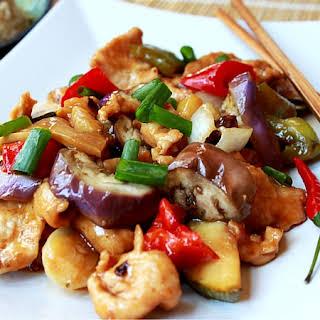 Spicy Szechuan Chicken & Eggplant.