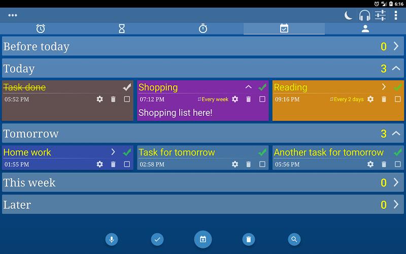 Alarm Clock & Timer & Stopwatch & Tasks & Contacts Screenshot 12