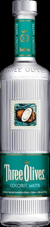 Logo for Three Olives Elvis Presley Coconut Water Vodka