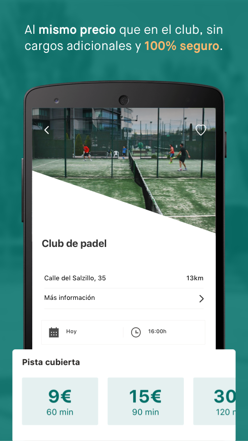 MyPadel by DKV: captura de pantalla