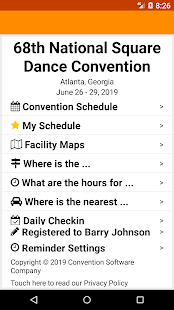 68th NSDC - 2019 National Square Dance Convention Screenshot