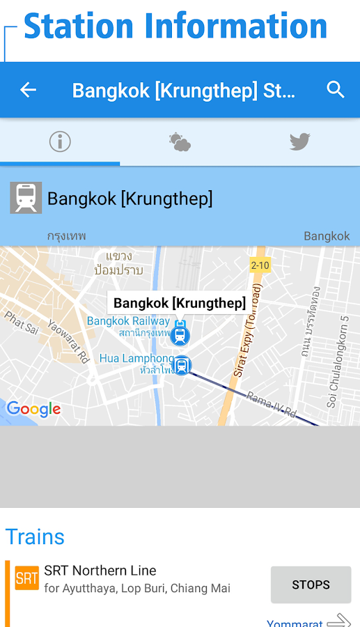 Thailand Rail Map - Bangkok- screenshot