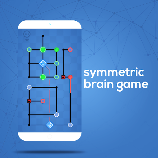 Dots Sync - Symmetric brain game game for Android screenshot