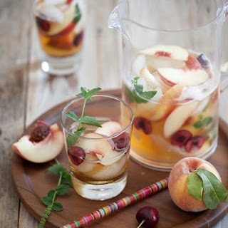 Hotel Inspired White Peach Sangria.