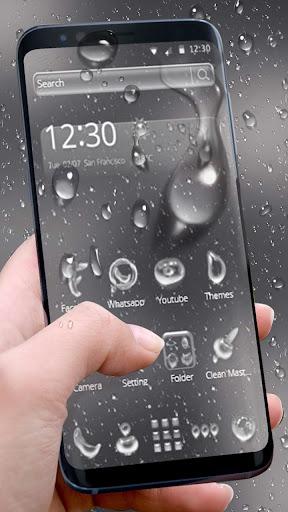 Rainy Water Glass Theme 1.1.1 screenshots 2