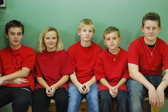 Photo: Sydsvenska lag röd. Alexander Nordqvist, Jennifer Göransson, Kevin Bahnsen, Tom Sand och Simon Kirkegaard. FOTO: Patric Fransson