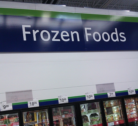 Photo: Finally it was on to the tiny frozen foods section. Seriously, this Sam's Club has a very small frozen section. It's only three aisles total and it's the smallest one I've seen in a Sam's Club.