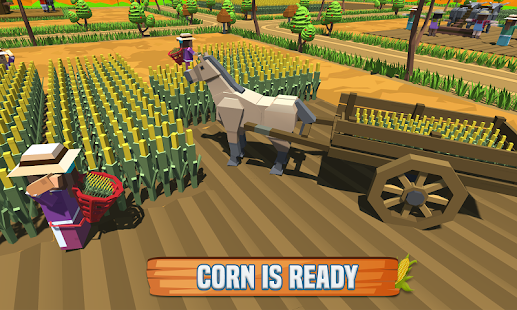 Corn Farm Professional: Blocky Farmer Simulator - náhled