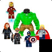 Slide Puzzle Lego Superheroes