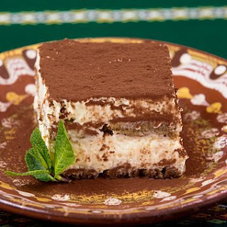 Festive Keto Friendly Tiramisu Cake.