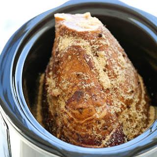 Slow Cooker Maple Brown Sugar Ham.