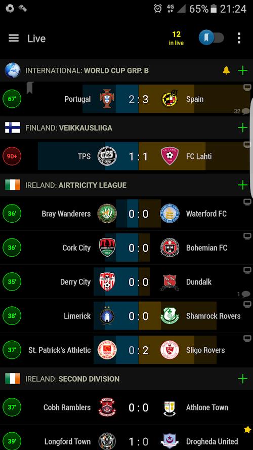 Screenshot 1 PRO Live Scores S-Center 3.6.7 APK PAID