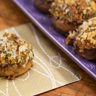 Emeril Lagasse's Sausage-Stuffed Mushrooms.