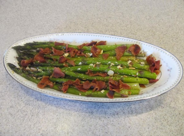 Baked Asparagus With Raspberry Pecan Dressing Recipe