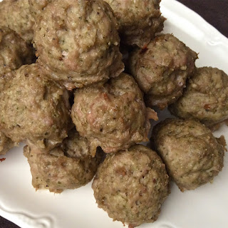 Turkey and Pesto Meatballs – Gluten and Dairy Free.