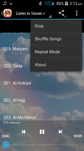 android Aloyoon Al-Koshi Quran MP3 Screenshot 2