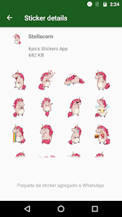 🦄 WAStickerApps Einhorn Kawaii Screenshot