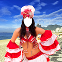 Woman Carnival Photo Montage icon