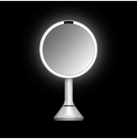 Sensorstyrd Sminkspegel med Belysning Simplehuman  5x Förstoring, reglerbar ljusstyrka via touch, vit