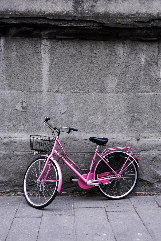 Bici rosa di angel