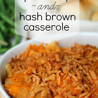 Pork Chops and Hash Brown Casserole.