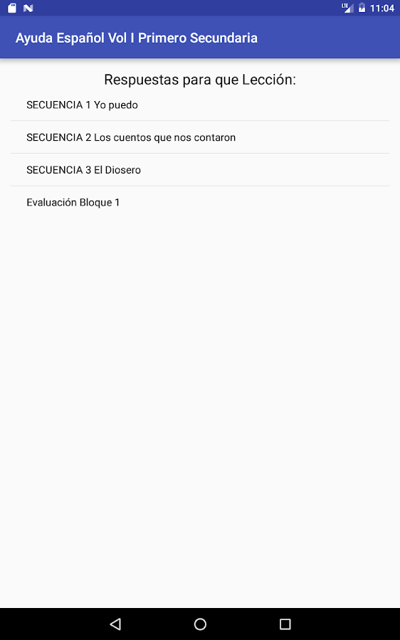 Español Vol I 1er. Secundaria- screenshot