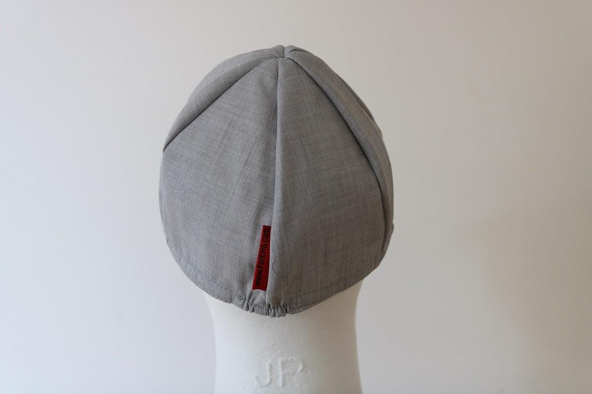 כובע מבד חוסם קרינת רדיו לבן אפור