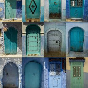 Las puertas de la ciudad azul/Doors of the blue city by Elliot Moore - Buildings & Architecture Other Exteriors