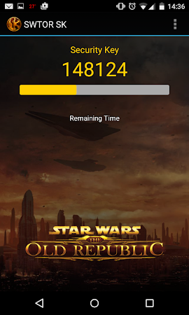 The Old Republic Security Key 1.0.1 screenshot 54939
