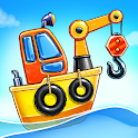 Build an Island. Kids Games for Boys. Build House icon