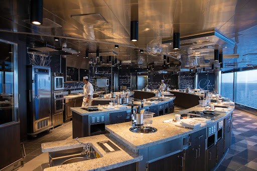 Learn advanced cooking skills at the Culinary Arts Kitchen on Seven Seas Splendor.