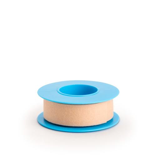 adhesivo rela cinta microporosa color beige 1,2 cm x 4,5 m