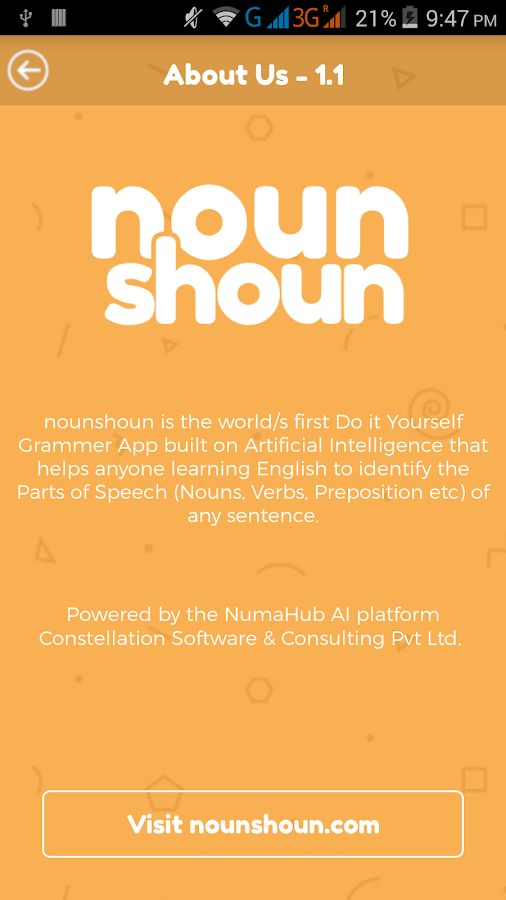 English Grammar App nounshoun- screenshot