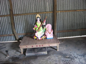 Photo: Another Saraswati Puja (1/30/09) celebrated in the rustic neighborhood of the hamlet of Bakchar close to Bakchar Angina.