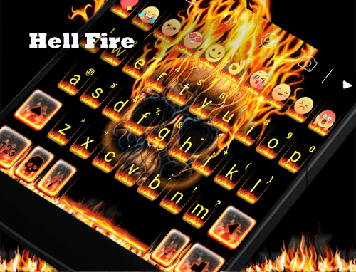 玩免費遊戲APP|下載Hell Fire Eva Emoji Keyboard app不用錢|硬是要APP