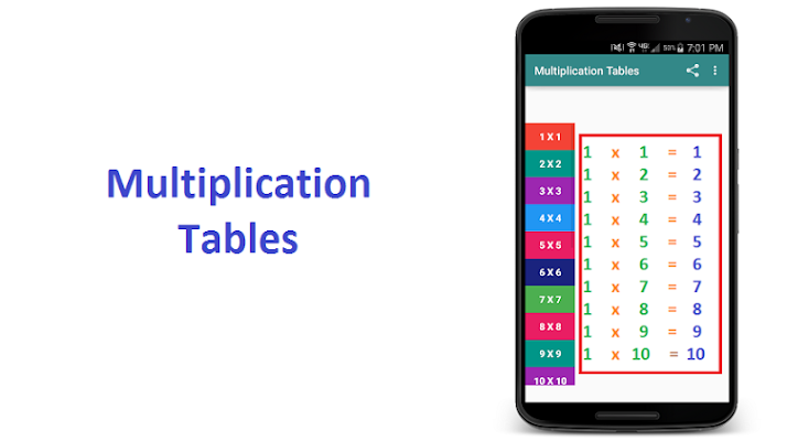 Multiplication Tables - screenshot