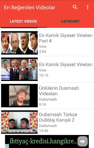 En Beğenilen Videolar