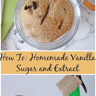 Homemade Vanilla Sugar and Extract