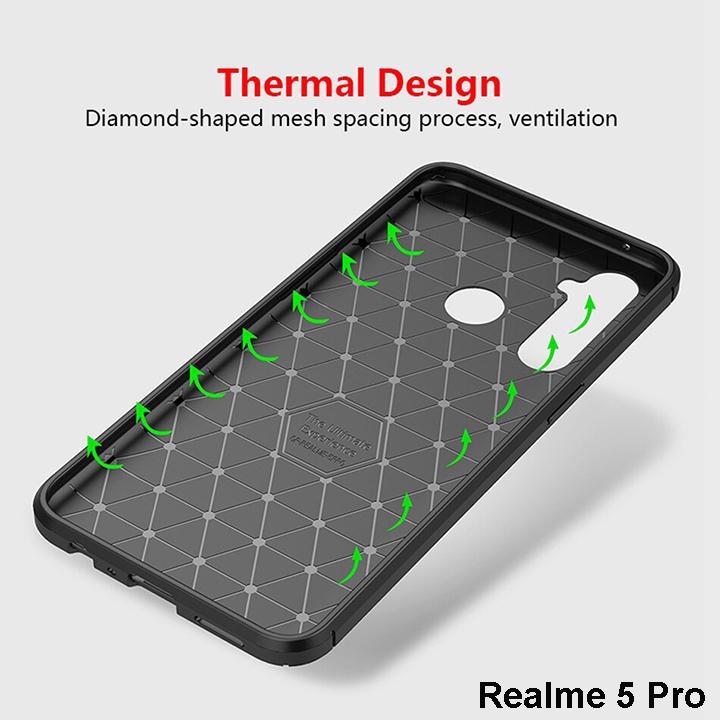 Ốp lưng Realme 5 Pro Film Carbon Case siêu chống sốc 16