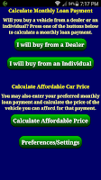 Screenshot of Car Loan Payment Calc Pro