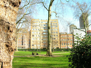 Photo: over to Charterhouse Square and the building used as Whitehaven Mansions in Poirot