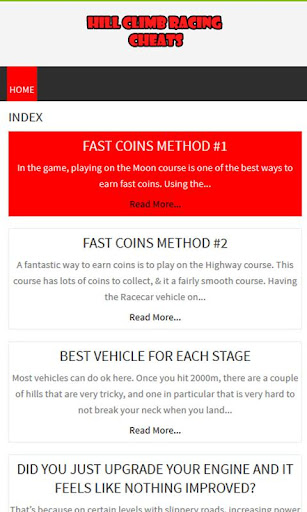 Fanmade Hill Climb Racing Tips