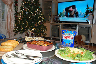 Photo: Well, the movie is ready, the dinner is ready and the desert it ready! No phones, no computers...just the 3 of us!